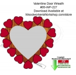 05-WP-227 - Valentines Day Folk Art Door Wreath Download Woodcraft Pattern PDF