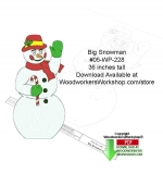 36 inch tall Big Snowman Downloadable Yard Art Woodcraft Pattern