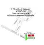 6 Wheel Back Massager Downloadable Woodcraft Pattern