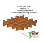 05-WP-236 - Criss-Cross Trivet Downloadable Woodcraft Pattern PDF