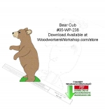05-WP-238 - Bear Cub Downloadable Yard Art Woodcraft Pattern PDF