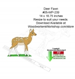 05-WP-239 - Deer Fawn Downloadable Yard Art Woodcraft Pattern PDF