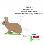 05-WP-240 - Rabbit Downloadable Yard Art Woodcraft Pattern PDF