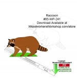 05-WP-241 - Raccoon Downloadable Yard Art Woodcraft Pattern PDF