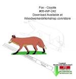 Fox or Coyote Downloadable Yard Art Woodcraft Pattern