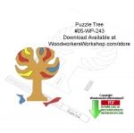 05-WP-243 - Puzzle Tree Downloadable Yard Art Woodcraft Pattern PDF