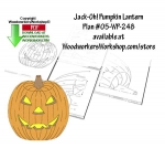 Jack-Oh Pumpkin Lantern Downloadable Scrollsaw Woodworking Plan