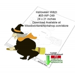 05-WP-249 - Halloween WItch Downloadable Yard Art Woodcraft Pattern PDF