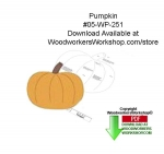 05-WP-251 - Pumpkin Downloadable Yard Art Woodcraft Pattern PDF