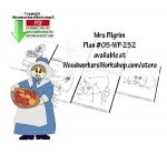 05-WP-252 - Mrs Pilgrim Downloadable Thanksgiving Woodworking Plan PDF