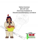 05-WP-254 - Native American Downloadable Yard Art Woodcraft Pattern PDF