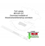 05-WP-257 - Fall Leaves Downloadable Scrollsaw Woodworking Pattern PDF