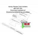 05-WP-264 - Handy Recipe Card Holder Woodworking Crafts Pattern PDF