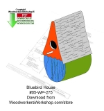05-WP-275 - Bluebord Birdhouse Wood Crafts Pattern Downloadable PDF