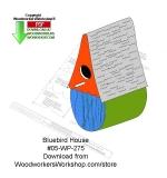 Bluebord Birdhouse Wood Crafts Pattern Downloadable