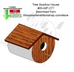 Tree Swallow House Woodcraft Downloadable