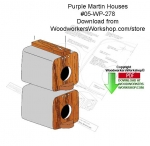 05-WP-278 - Purple Martin Houses Woodcraft Downloadable PDF