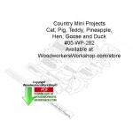 fee plans woodworking resource from WoodworkersWorkshop® Online Store - pig,goose,duck,hen,pineapple,country-style,stencils,templates,scrap wood projects,downloadable PDF,tole painting wood crafts,scrollsawing patterns,4-H Club,4H projects,scouts,girl guides,drawings,Acce
