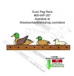 05-WP-287 - Duck Peg Rack Downloadable Woodcrafting Pattern PDF
