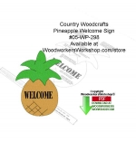 05-WP-298 - Pineapple Welcome Sign Country Woodcrafting Pattern PDF