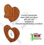 fee plans woodworking resource from WoodworkersWorkshop� Online Store - hearts,wall mounted,mirrors,beginner,novice,stencils,templates,scrap wood projects,downloadable PDF,tole painting wood crafts,scrollsawing patterns,4-H Club,4H projects,scouts,girl guides,drawings,Acc