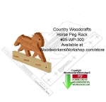 Horse Peg Rack Downloadable Scrollsaw Woodcrafting Pattern