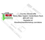 Teddy Bear Napkin Holder book Rack Woodcraft Pattern Downloadable