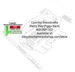 Rainy Day Piggy Bank Woodcraft Pattern Downloadable