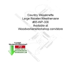 fee plans woodworking resource from WoodworkersWorkshop� Online Store - roosters,weathervanes,beginner,novice,stencils,templates,scrap wood projects,downloadable PDF,tole painting wood crafts,scrollsawing patterns,4-H Club,4H projects,scouts,girl guides,drawings,Accents I
