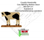 05-WP-311 - Cow Standing Mailbox Decor Woodcraft Sign Pattern Downloadable PDF