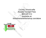 05-WP-314 - Rooster Garden Poke Woodcraft Sign Pattern Downloadable PDF