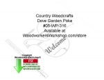 Dove Garden Poke Woodcraft Sign Pattern Downloadable