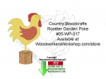 fee plans woodworking resource from WoodworkersWorkshop� Online Store - garden pokes,rooster,birds,on the farm,beginner,novice,stencils,templates,scrap wood projects,downloadable PDF,tole painting wood crafts,scrollsawing patterns,4-H Club,4H projects,scouts,girl guides,d