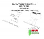 Door Goose Downloadable Woodworking Pattern PDF, goose,geese,door greeter,wildlife,birds,mallard,boxes,intarsia,painting wood crafts,scrollsawing patterns,drawings,woodworkers projects,workshop blueprints