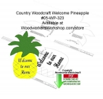 Pineapple Welcome Downloadable Scrollsaw Woodcrafting Pattern PDF, pineapples,signs,welcome to our home,woodcrafts,stencils,templates,scrap wood projects,downloadable PDF,tole painting wood crafts,scrollsawing patterns,4-H Club,4H projects,scouts,girl guides,drawings