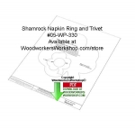 05-WP-330 - Shamrock Trivet and Napkin Ring Downloadable Woodcrafting Article PDF