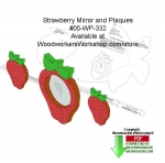 05-WP-332 - Strawberry Mirror Downloadable Woodcrafting Article PDF