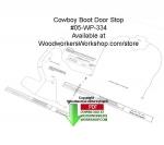 Cowboy Boot Door Stop Downloadable Woodcrafting Article