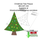 Christmas Tree Plaque Downloadable Woodcrafting Article