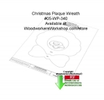 05-WP-340 - Christmas Wreath Plaque Downloadable Woodcrafting Article PDF