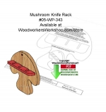 Mushroom Knife Rack Downloadable Woodcrafting Article