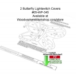 05-WP-345 - 2 Butterfly Light Switch Covers Downloadable Woodcrafting Pattern PDF