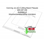 Canning Jar and Cutting Board Plaque Downloadable Wood Pattern