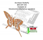 Yellow Swallowtail Butterfly Scrollsaw Downloadable Wood Pattern