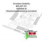 Butterfly Scrollsaw Silhouette Downloadable Wood Pattern