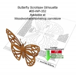 Butterfly Scrollsaw Silhouette Downloadable Wood Pattern