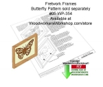 Frame Holder for Fretwork Downloadable Scrollsaw Woodcrafting Pattern