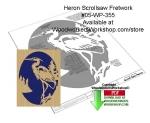 Heron Scrollsaw Fretwork Woodcrafting Pattern