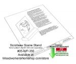 Scrollsaw Scene Stand Downloadable Scrollsaw Woodcrafting Pattern