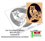 05-WP-357 - Owl Fretwork Downloadable Scrollsaw Woodcrafting Pattern PDF